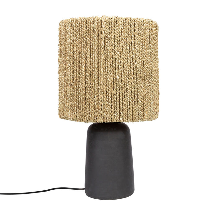 The Black Chalki Seagrass Table Lamp Boho