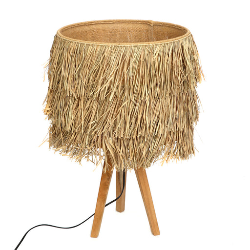The Raffia Table Lamp