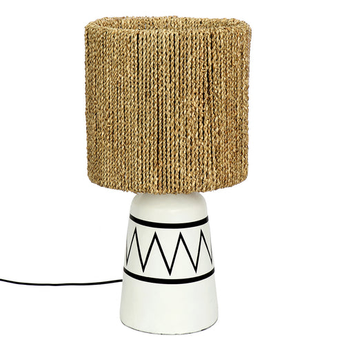 The Santorini Seagrass Table Lamp