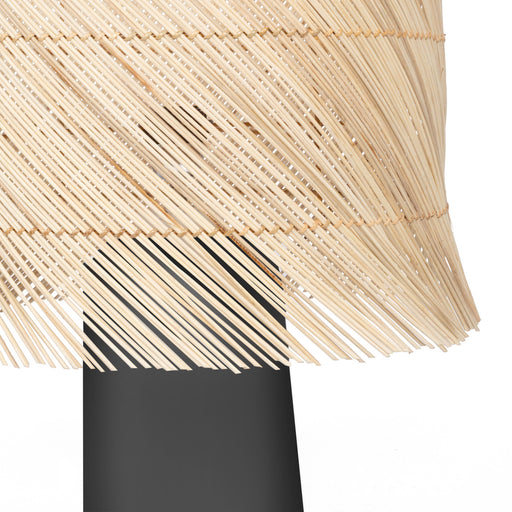 The Black Rattan Table Lamp