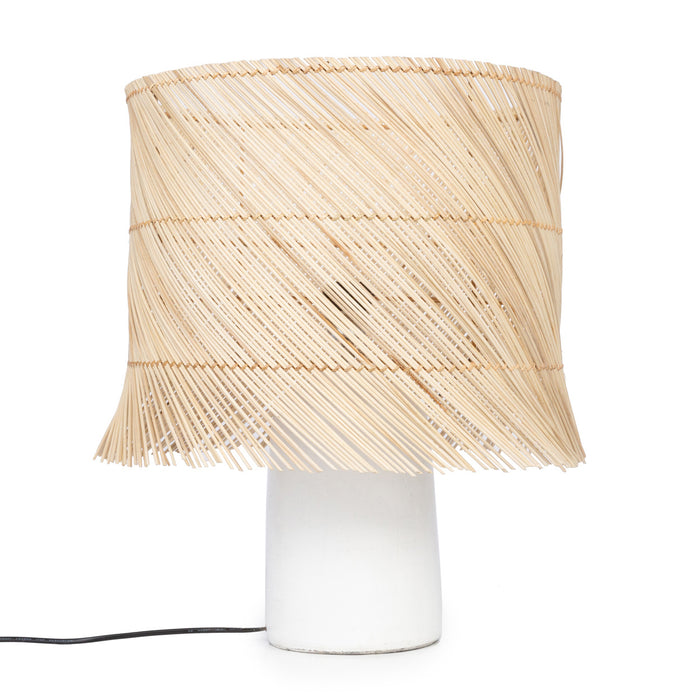The White Rattan Table Lamp