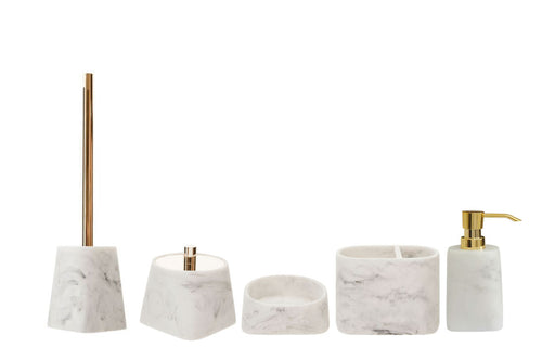 Marble Effect Bathroom Accessories Full Set