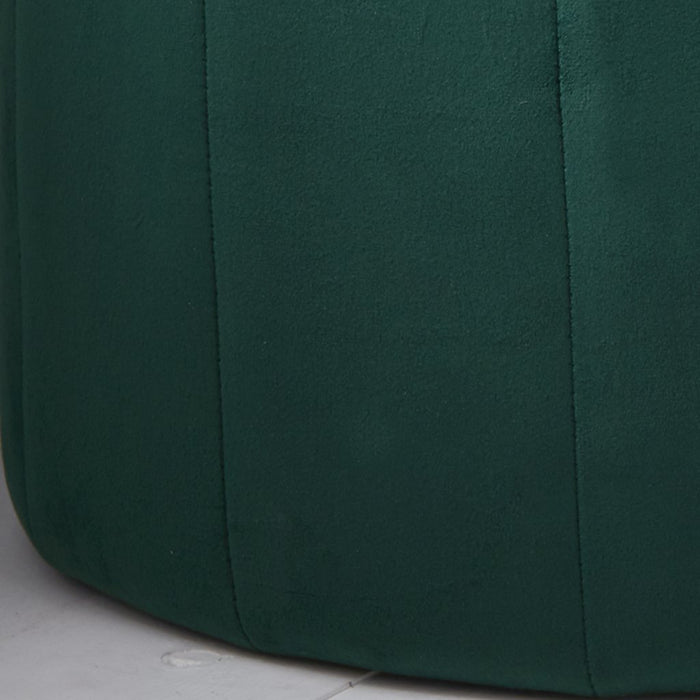 Green Velvet Plush Stool