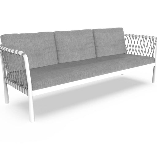 Sofy Outdoor Aluminium Sofa In White Comes with Zip Cushions