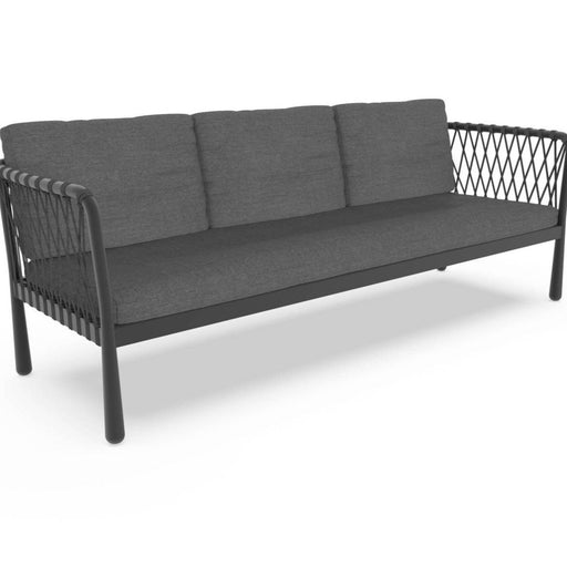 Sofy Outdoor Aluminium Sofa IN Black  Comes with Zip Cushions