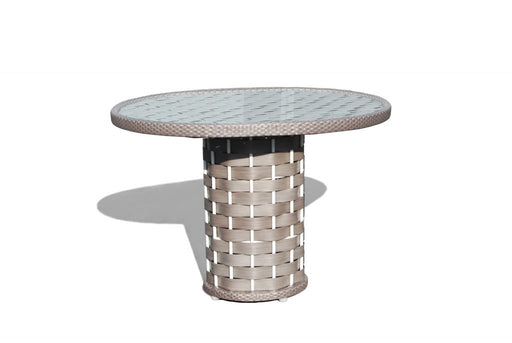 Skyline Design Outdoor Strips Round 4 Seater Dining Table