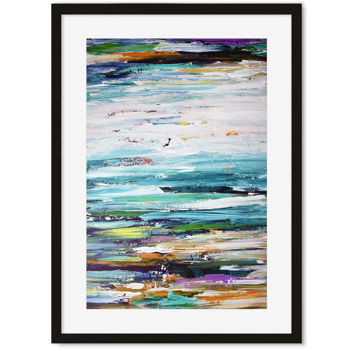 Modern Abstract Art Print vi Black Frame