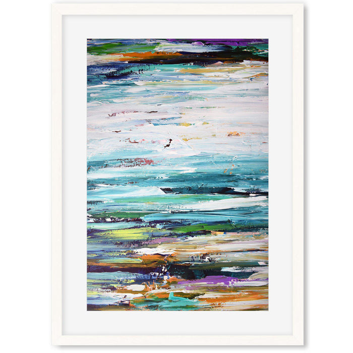 Modern Abstract Art Print vi White Frame