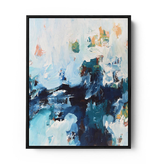 Abstract Canvas Print X Black Frame