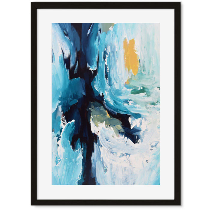 Modern Abstract Art Print IV Black Frame