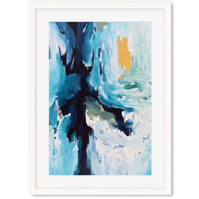 Modern Abstract Art Print IV White Frame