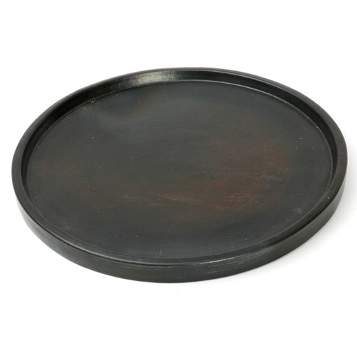 Black Terracota Burned Dinner Plate