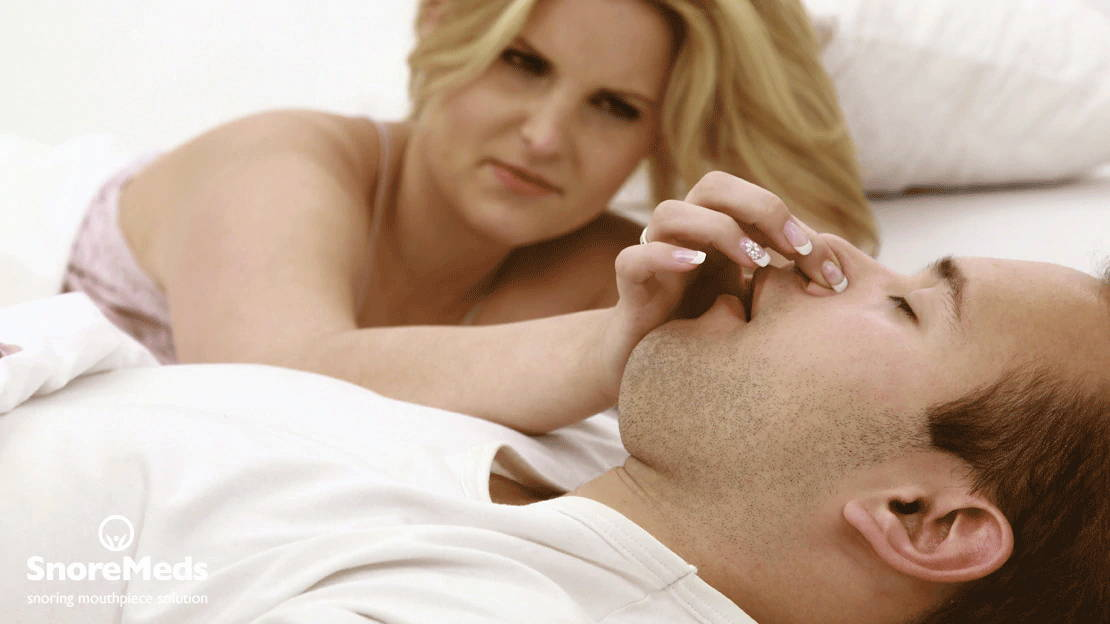 How to stop my husband from snoring?