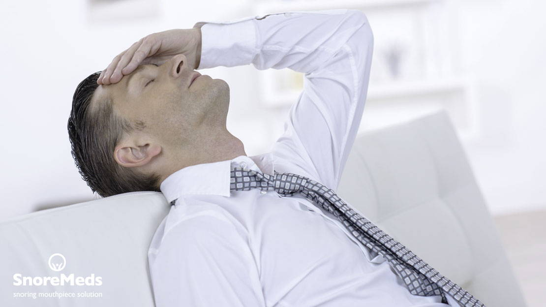 Snoring leads to noise and interrupted sleep