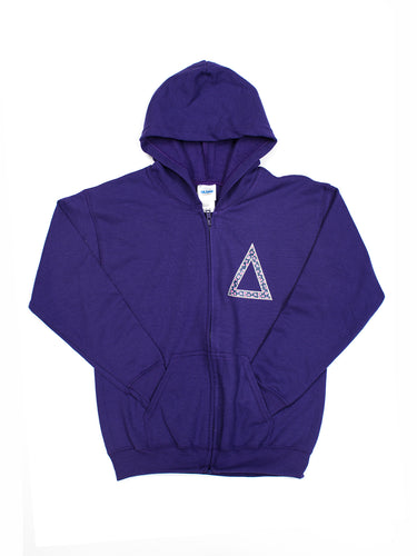 Purple Little man Logo Hoodie