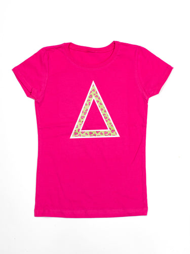 Pink Tri Princess Cut T-shirt
