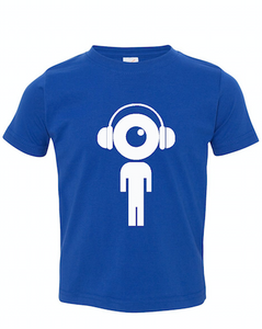 Royal Blue Toddler Fine Jersey T-Shirt With Lil Man