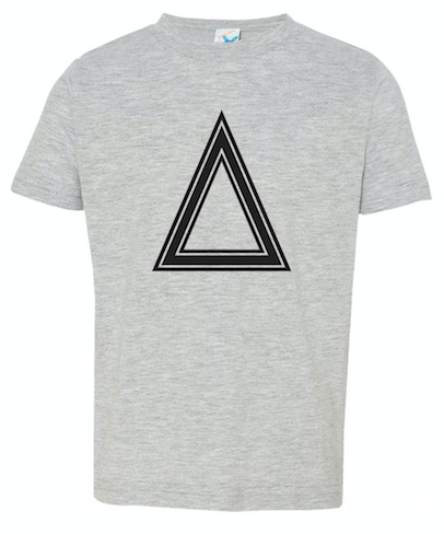 Heather Gray Toddler Fine Jersey T-Shirt With Triangle