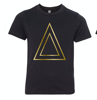 Black T-Shirt With Triangle