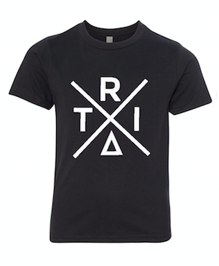 Black T-Shirt With X