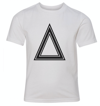 White T-Shirt With Triangle
