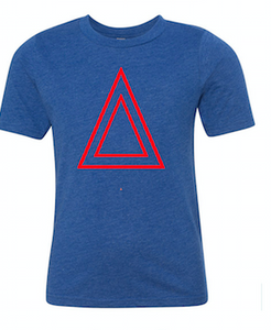 Blue T-Shirt With Triangle