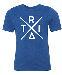 Royal Blue T-Shirt With Triangle