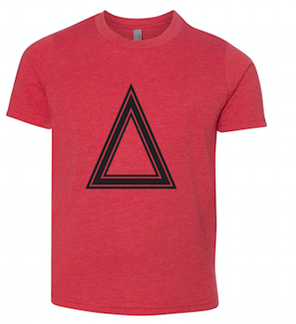 Red T-Shirt With Triangle