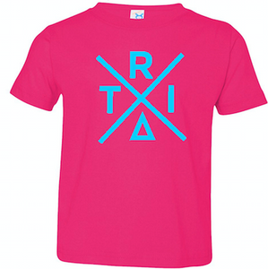 Hot Pink Toddler Fine Jersey T-Shirt With X