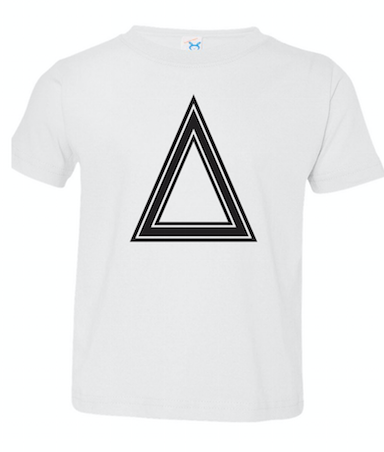 White Toddler Fine Jersey T-Shirt With Triangle