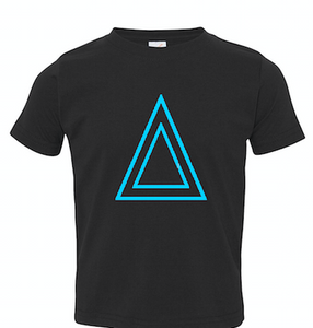 Black Toddler Fine Jersey T-Shirt With Triangle