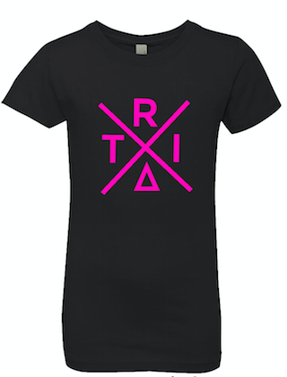 Black Princess Cut T-Shirt With X