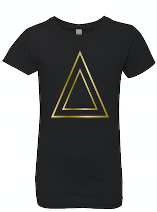 Black Princess Cut T-Shirt With Triangle