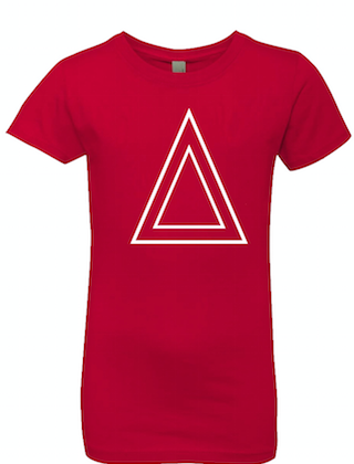 Red Princess Cut T-Shirt With Triangle