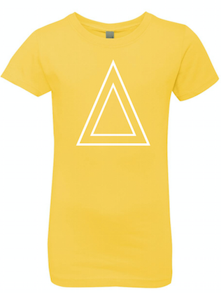 Yellow Princess T-Shirt With White Triangle