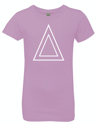 Lavender Princess Cut T-Shirt With White Triangle