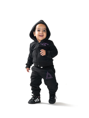Sweat Suit Triangle Purple Logo