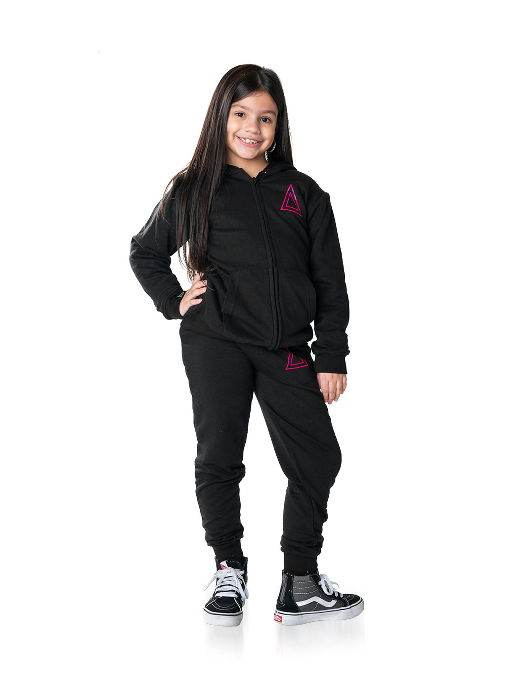 Sweat Suit Triangle Pink Logo