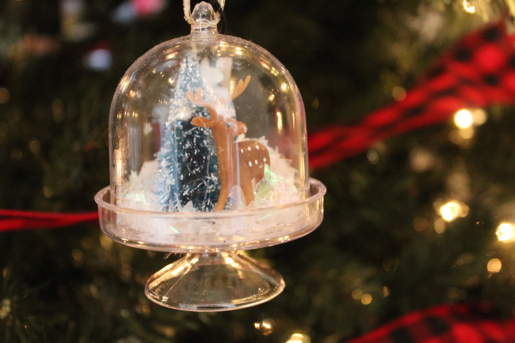 Deer Globe ornament