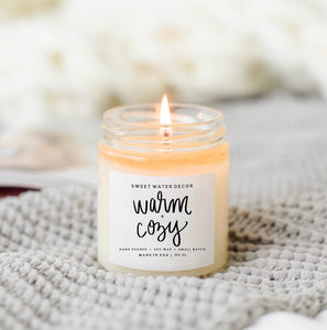 9oz Warm & Cozy candle