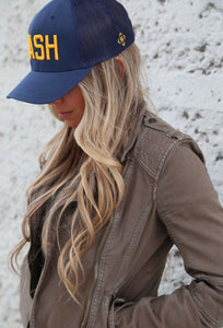 Navy/Gold NASH trucker hat