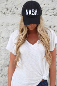 Black NASH baseball hat
