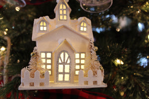 Light up House ornament