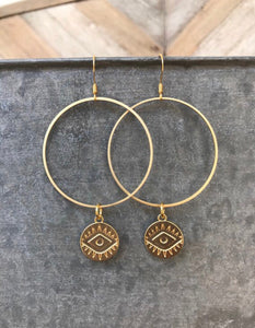Large Hoop + Charm Dangles