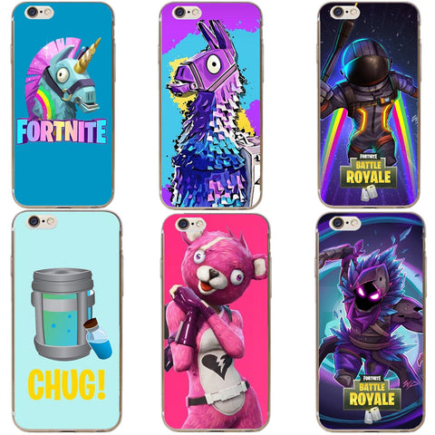 Fortnite Battle Royale Hard  Phone Cases Cover For iPhone X 7 7Plus 8 8 Plus 6 6S Plus 5 5S SE
