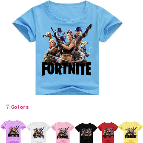 Fortnite Boys/Girls  Casual short sleeve T-shirts