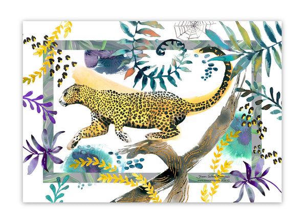 Cape Leopard Tea Towel