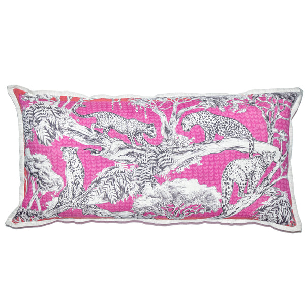 Pink Leopard Cushion Cover Large