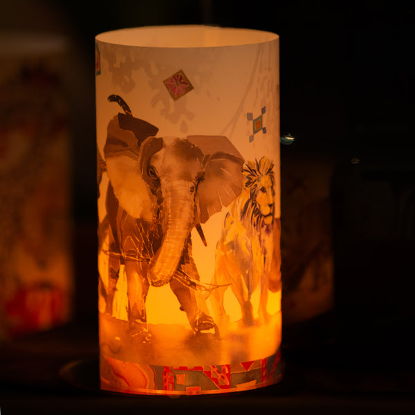 Big Five Candle Shade