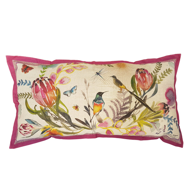 Colour Fynbos Cushion Cover (Large Linen-cotton blend)